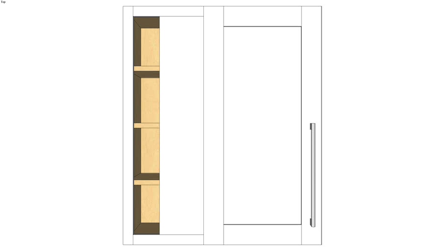 Wall Blind Corner Single Door 36H