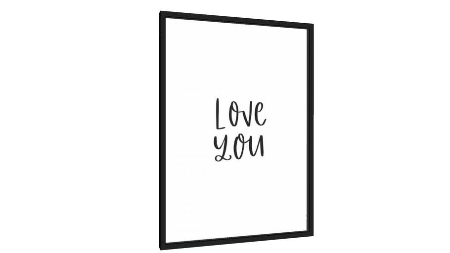 Quadro Love You - Galeria9, por Rachel Moya
