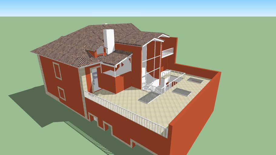 Modelo 3D simples do Projecto Inicial de um Prédio na Travessa das Sedas, Lisboa, Portugal