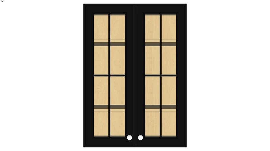 Wall Double Door 42H with Hewitt Bistro Glass Insert