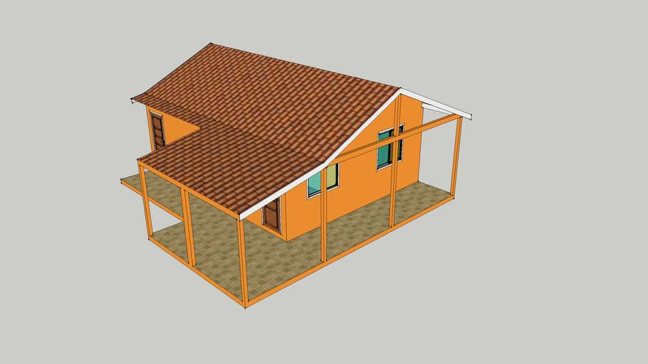Casa Alvenaria Termo Acústica (concreto celular)  - 65,80m2 -Nossa Casa