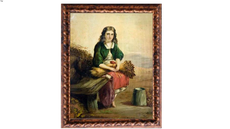 British country girl of XIX century.