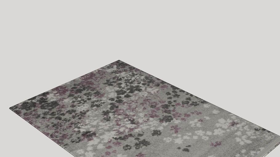 Ales Light Grey/Purple Area Rug