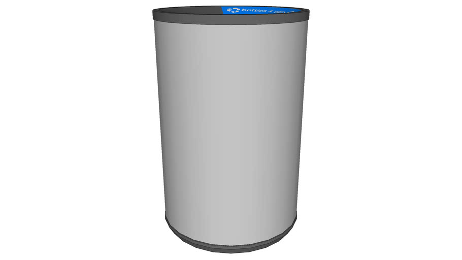 """Forms+Surfaces® Universal Receptacle, 24 gallon, top opening, 6"""" diameter opening"""