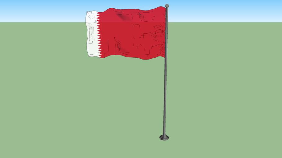 Qatari flag from 1916 to 1936