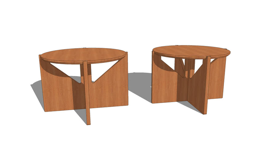 Side tables by Kristina Dam