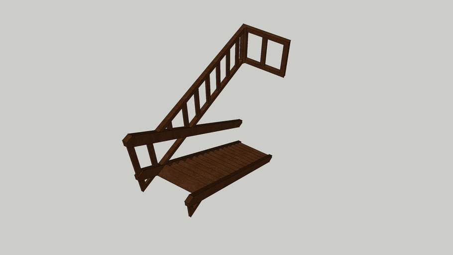8ft staircase left railing