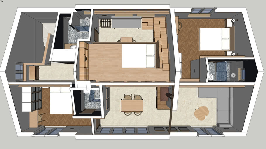 Studio Melkior Penthouse Project 2 3d Warehouse