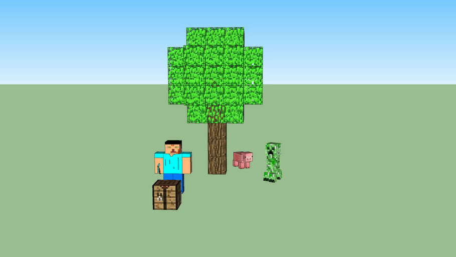 minecraft steve and creeper V 0.2