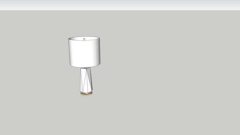 West Elm Faceted Pporcelain Table Lamp Large W3606