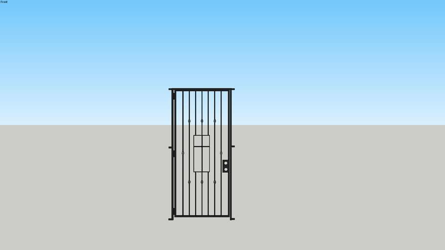 Security screen door - French Provincial