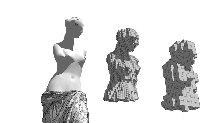 Voxelated Sculpture