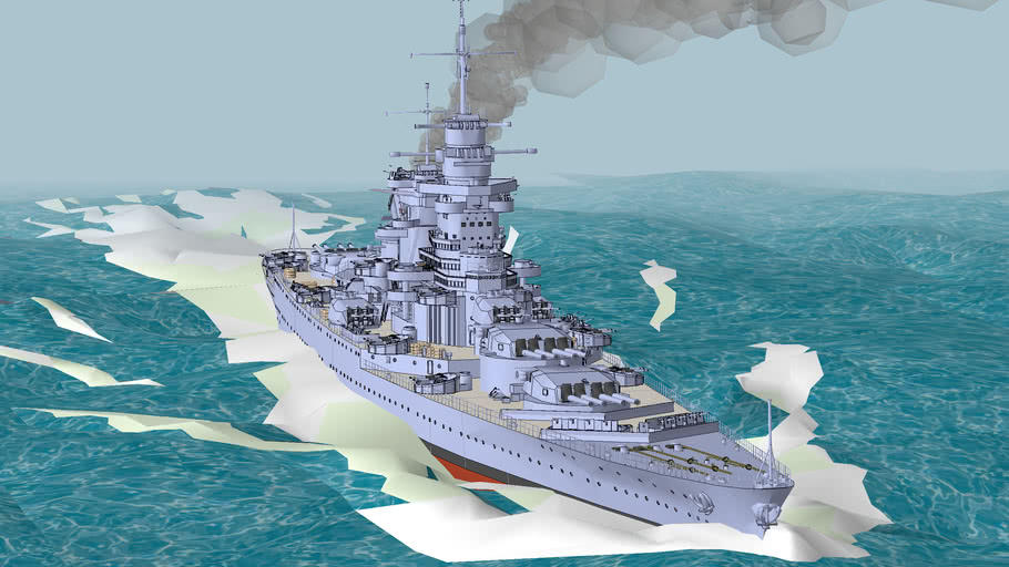French Battleship Alsace