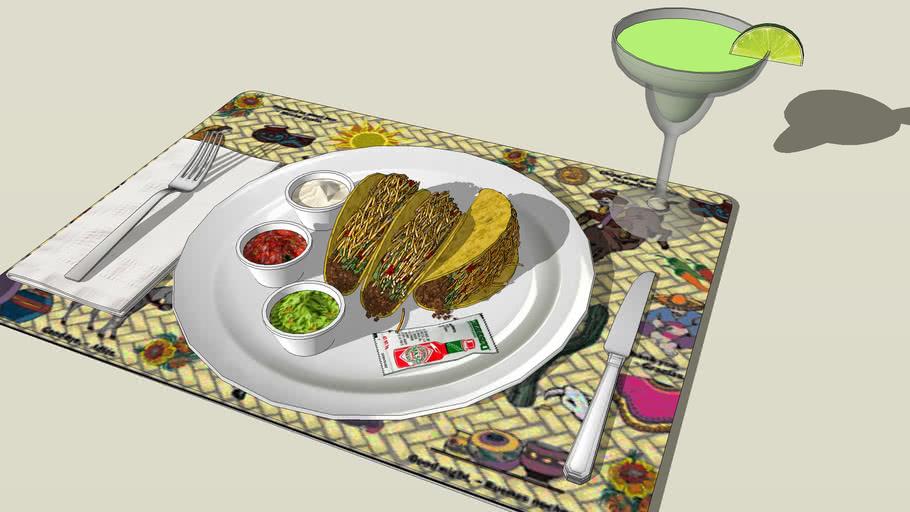 Taco Dinner with Margarita