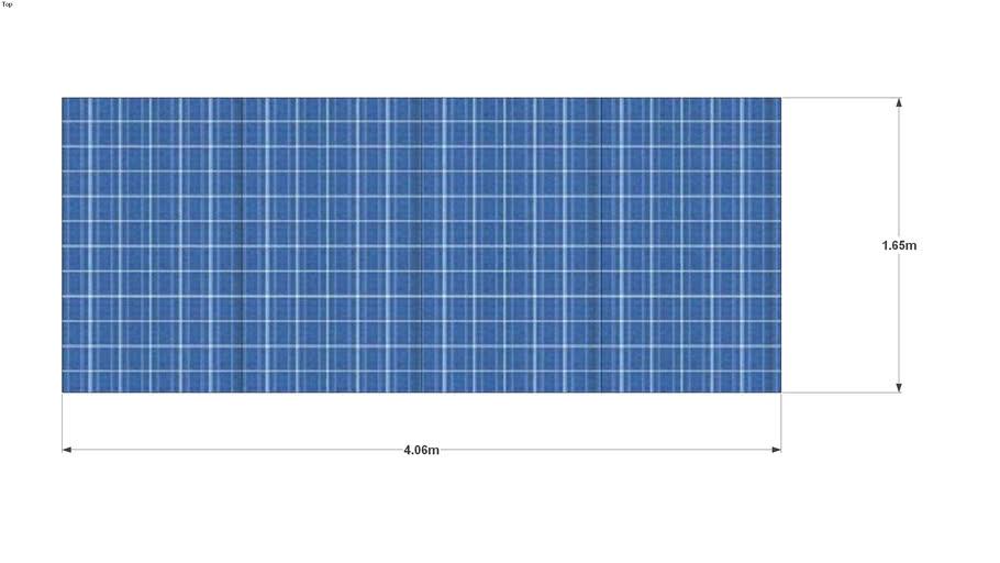 4 x 245 Wp Sharp panels