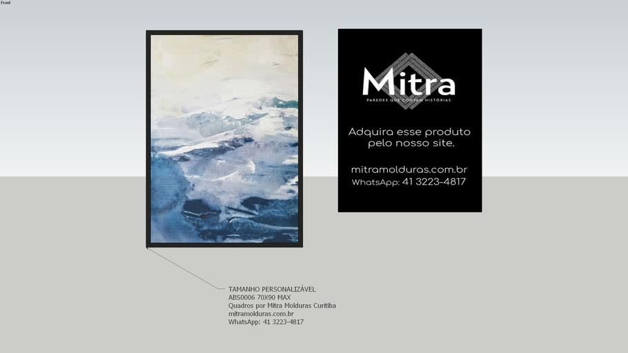 ABS0006 70X90  l Quadro Abstrato l Mitra Quadros Personalizados