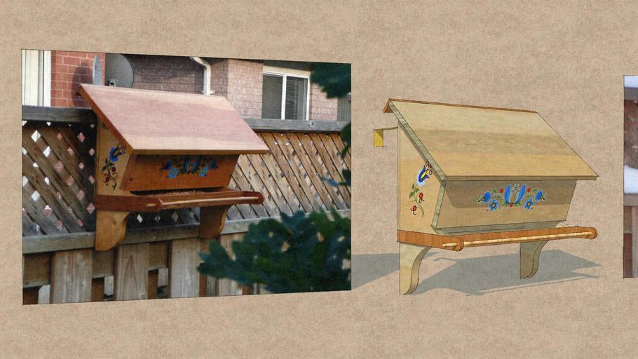 Letterbox Bird Feeder 2007-2020 Kaszuby Artwork