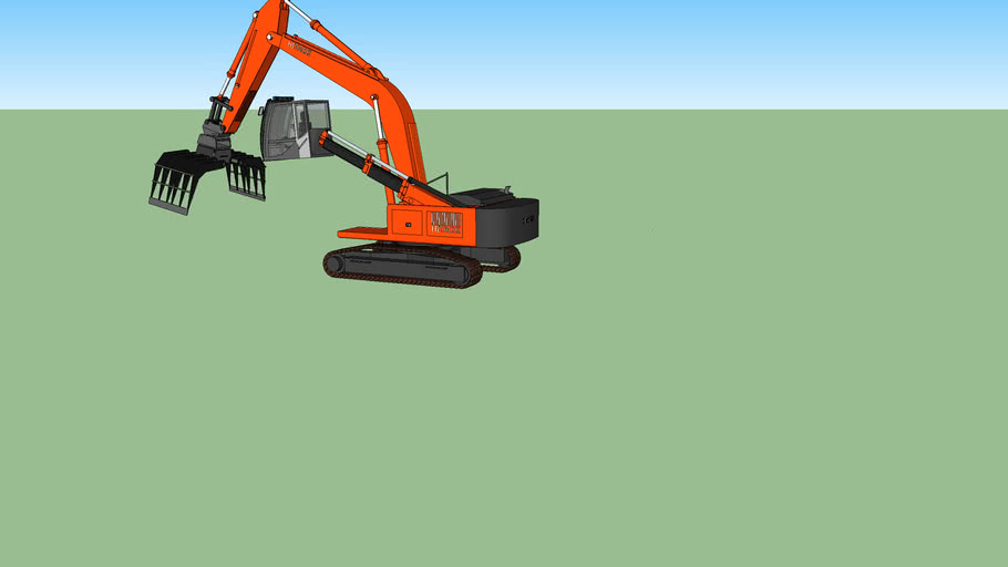 Hitachi Zaxis 330 With High Rise Cab And Cab Guard And Rotateable Sorting Grapple