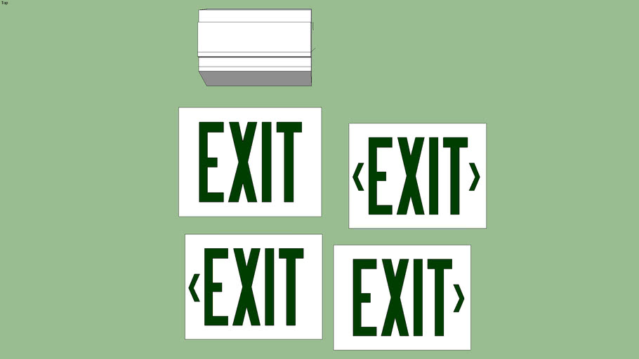 Lithonia Lighting Signature Series  Exit Sign (Green/White)
