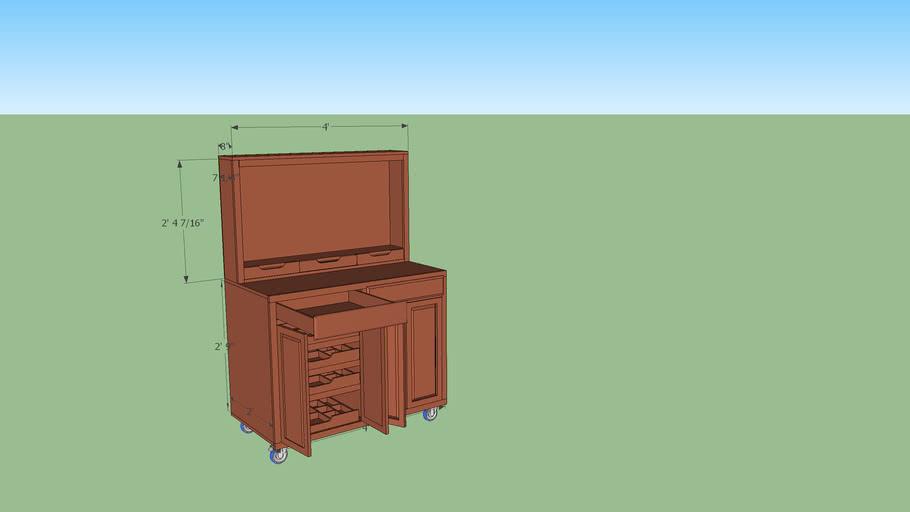 Mobil workshop cabinet