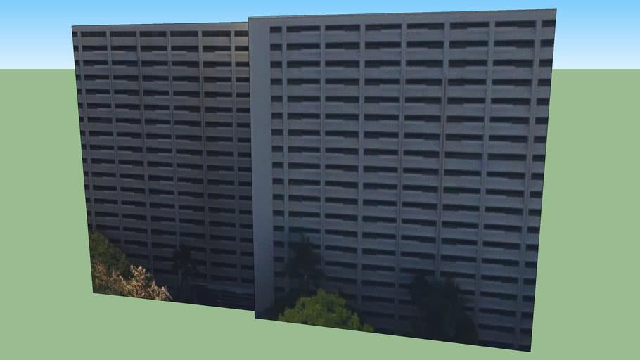 Budynek przy Honolulu, Hawaje, Stany Zjednoczone