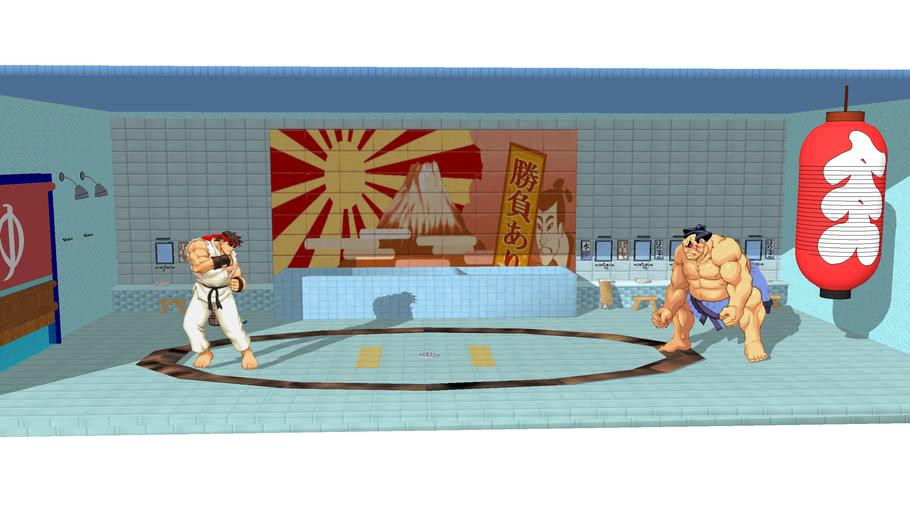 Stage E Honda Street Fighter Ii 3d Warehouse