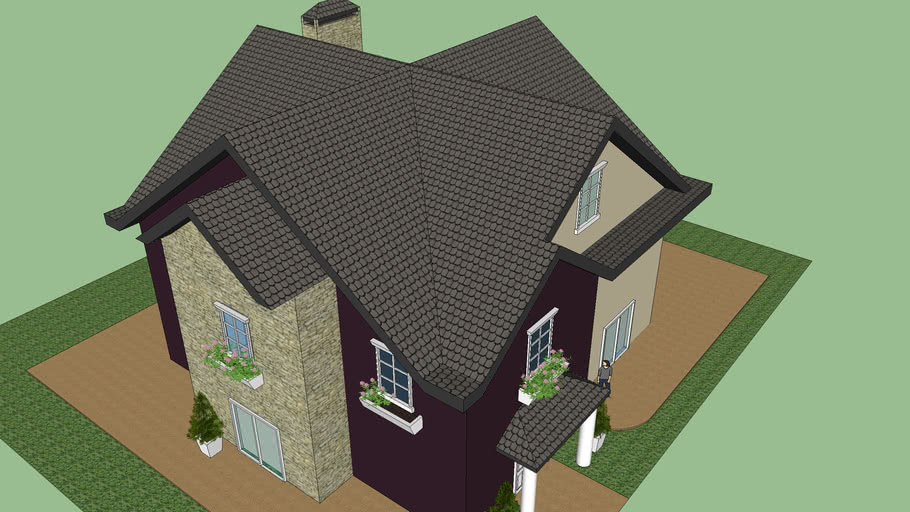 2 color house