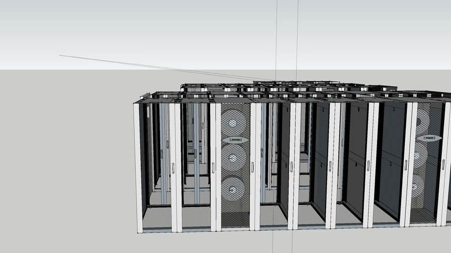 APC Datacenter with HACS and Inrow cooling