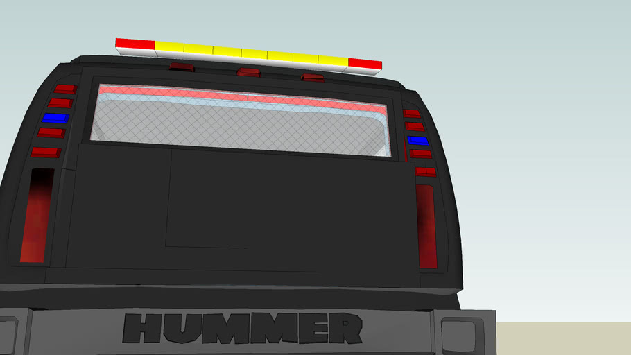 Hummer H2 Police Truck (C)
