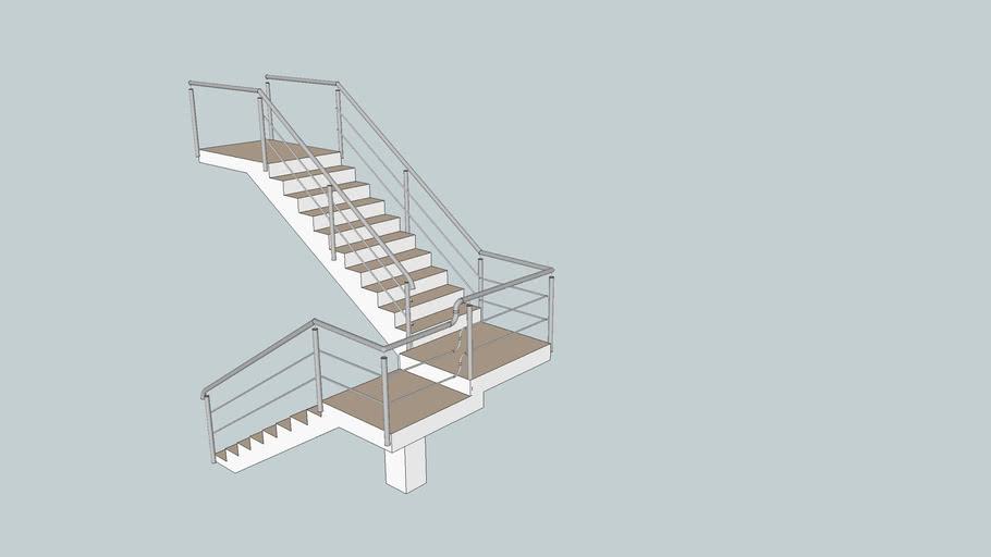 Escada corrimão de inox