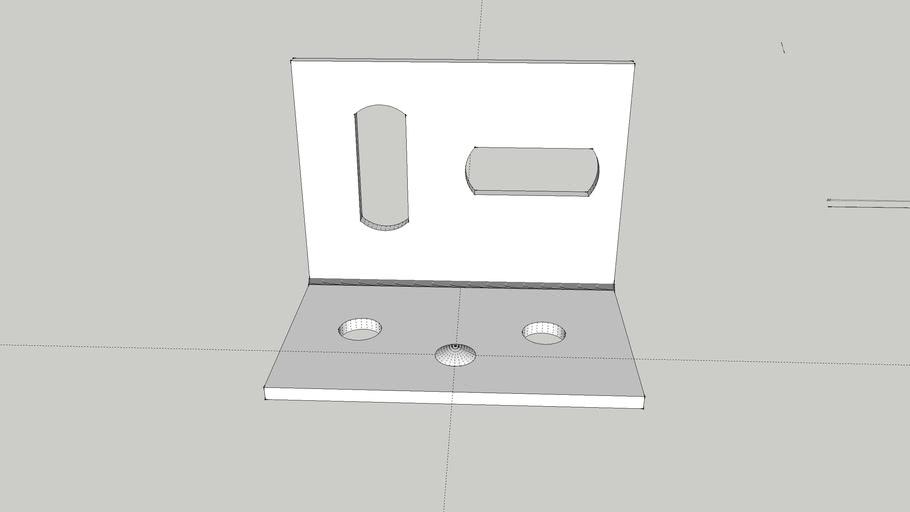 Adjustable angle bracket 25mm by 38mm steel Wickes