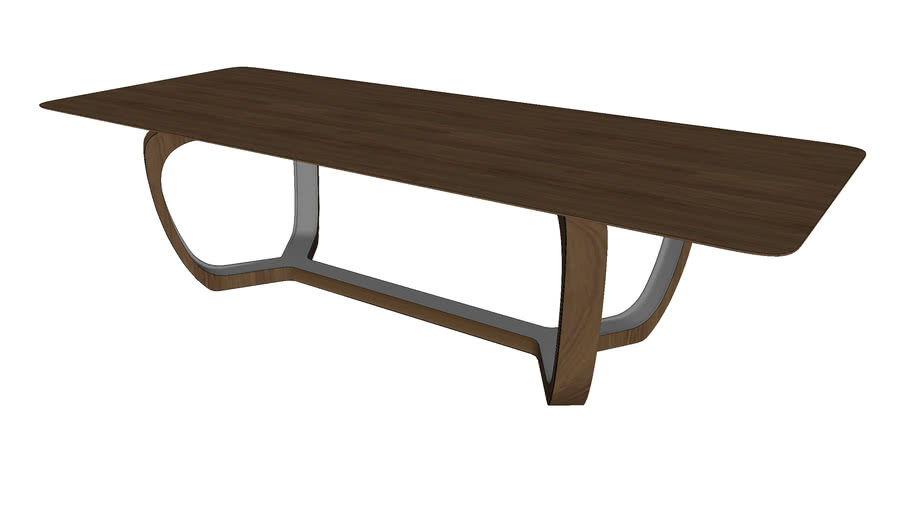 Lisson Dining Table Walnut by Modloft