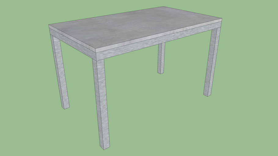 Crate & Barrel Concrete Top/ Stainless Steel Base Parsons Dining Tables