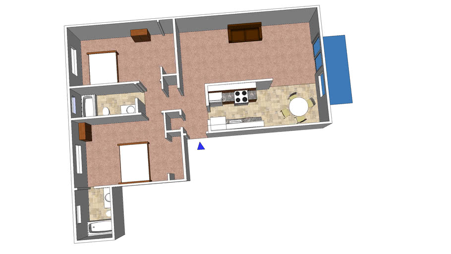 Lakeview Apartments, E, 2 Bedrooms, 2 Bathrooms