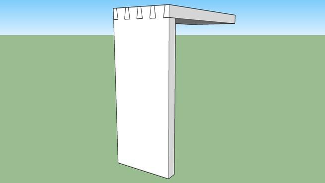 Einfache Verzinkung (Weichholz 120x20)