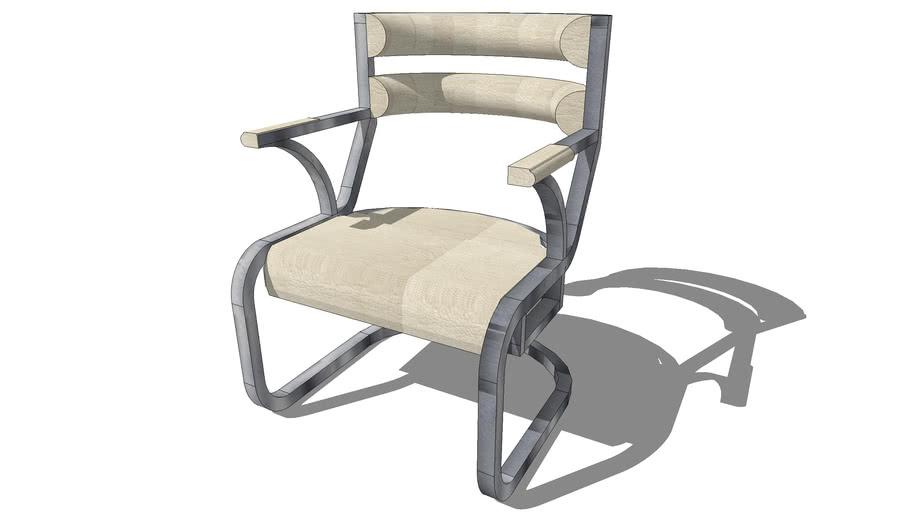 Trendy Chair V. 2 - White hard leather