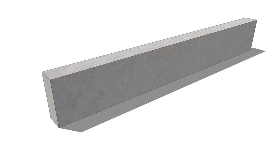 Ebema boordsteen. Megasmooth. Grey Velvet. 100x15x6 cm.