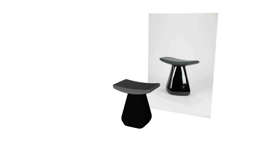 Mat Stool Design by Delacourt Model by Pooh