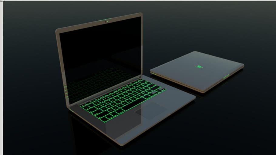 Green RGB  Laptop Design
