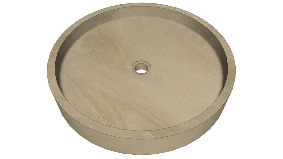 ROUND DISH | Pietre di Rapolano | Ø50cm, h.8cm