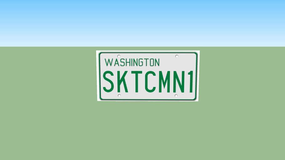 Washington 1968-1984 License Plate