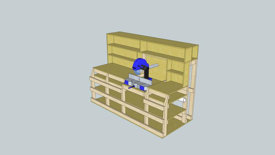 MIter Saw Station/ Lumber Rack