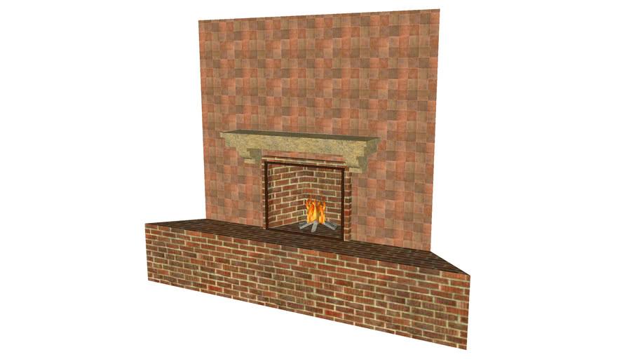 Corner Fireplace - Detailed