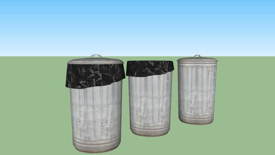 Trashcan set