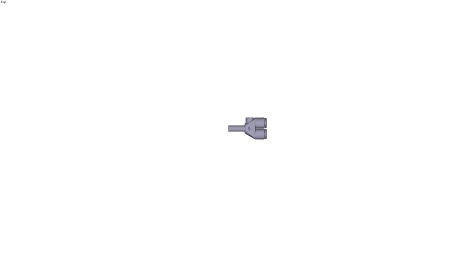 3142 - PLUG-IN EQUAL AND UNEQUAL SINGLE Y PIECE DIAM D1 6 MM DIAM D2 6 MM