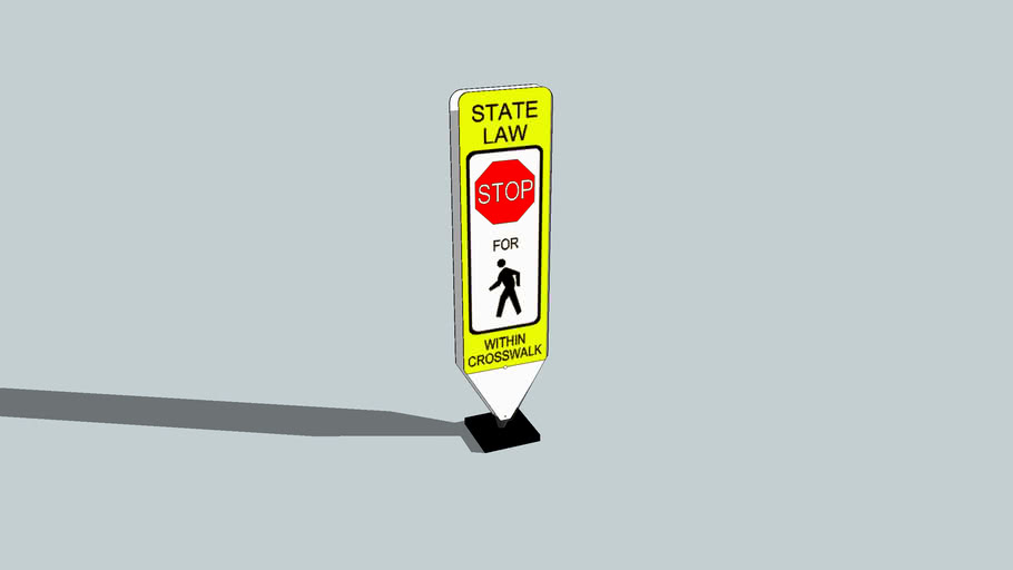 In-Street Pedestrian Crosswalk Sign