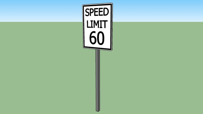 Speed Limit Sign 60