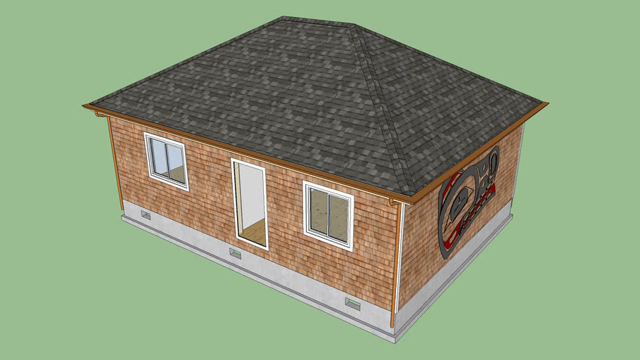 Hip Roof With Gutter And Downspouts 3d Warehouse