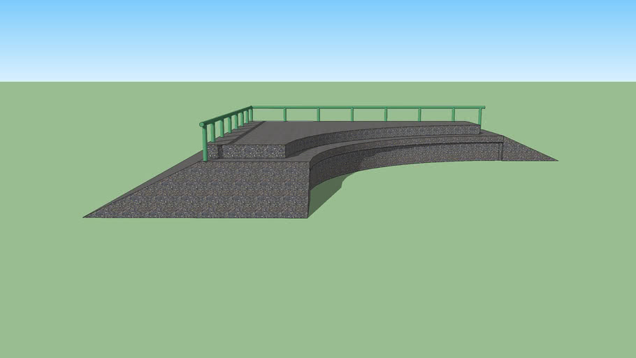 C-Ledge Pyramid with Railing