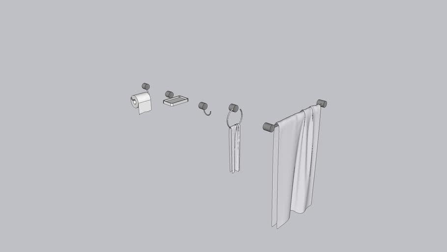 Kit de acessórios de banheiro (similar a Deca Flex)